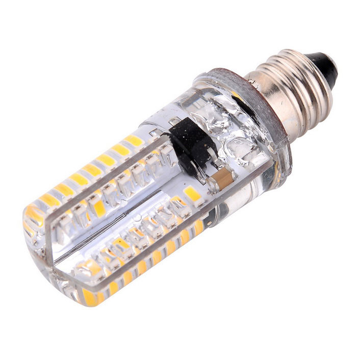 YWXLight E11 64-3014 SMD LED Silicone Dimmable Light Bulb Cold White