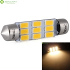 Festoon 42mm 4.5W 220LM Caliente la lámpara de la bóveda del coche del blanco 9-SMD 5730 LED (2PCS)