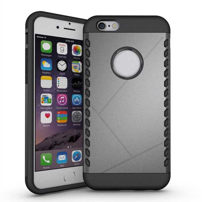 Protective TPU Back Case for iPhone 6 / 6S - Dark Grey