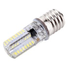 YWXLight E17 64-3014 SMD LED Silicone Dimmable Light Bulb Cold White
