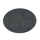 ZIQIAO Car Dashboard Football Patterned Anti-slip Mat - Black