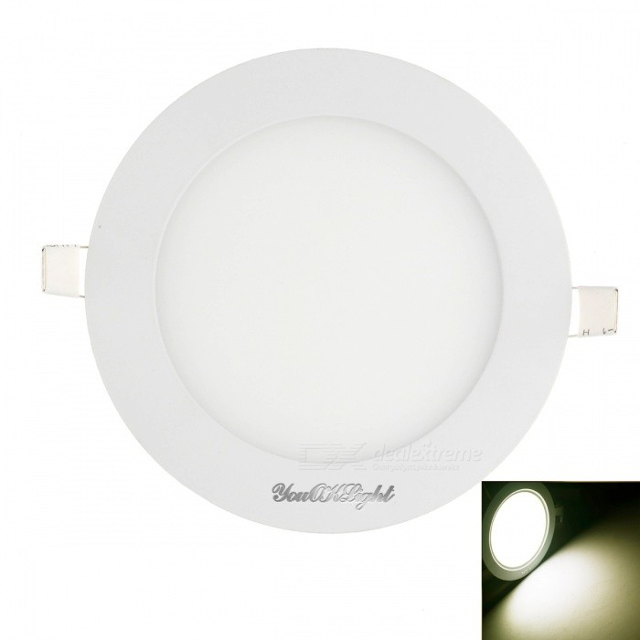 YouOKLight 12W 60-SMD Cold White Light LED Round Panel Light Lamp