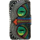Special Shining Eye Monster Cartoon Pattern Protective Full Body Case with Stand / Card Slots