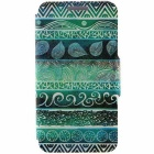 Green Totems Pattern Protective Full Body Case with Stand / Card Slots