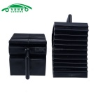 Pair Black Plastic Anti-slip Car Auto Wheel Tire Chock Stop Blocks