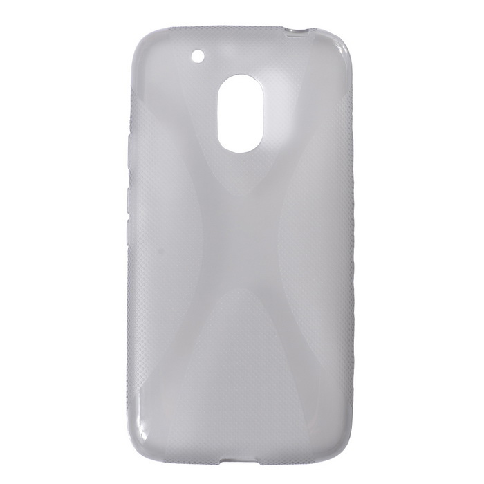 Protective TPU Back Case for MOTO G4 Play - Transparent Gray