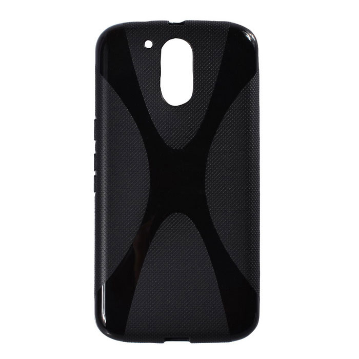 """X"" Style Protective TPU Back Case for MOTO G4 Plus - Black"