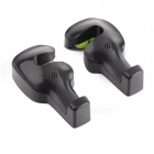 ZIQIAO Car Seat Headrest Hanger Organizer Holder Hooks - Black (2PCS)