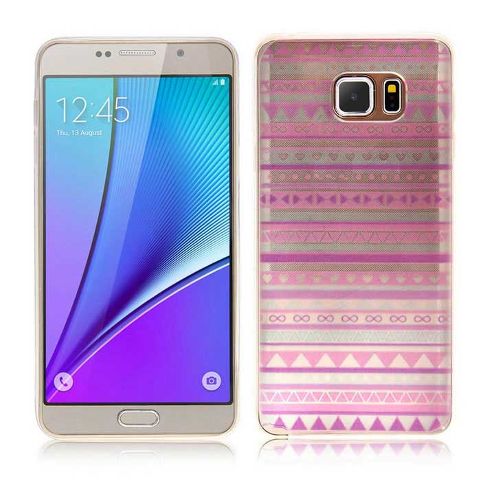SZKINSTON TPU Protective Case Cover for Samsung Galaxy Note 5 - Purple