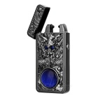 3D Dragon Head Pattern + Agate USB Rechargeable Lighter