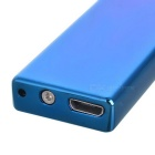 USB ultrasottile laterale doppia Li-ion ricaricabile Lighter - Blu