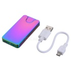 Ultrathin Dual Side USB Rechargeable Yellow Flame Isqueiro - Roxo