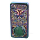 3D Dragon Head Pattern + Agate USB Rechargeable Lighter - Purple