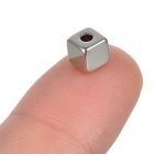 5 * 5 * 5mm-2mm Square NdFeB Magnets w/ Sink Hole - Silver (100PCS)