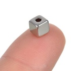 5 * 5 * 5mm-2mm Square NdFeB Magnets w/ Sink Hole - Silver (10PCS)