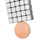 5 * 5 * 5mm-2mm Square NdFeB Magnets w/ Sink Hole - Silver (50PCS)