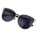 Trendy Cat Eyes Style UV400 Protection Sunglasses - Gold + Grey