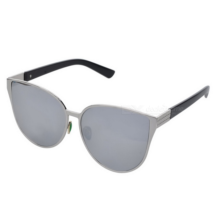 Trendy Cat Eyes Style UV400 Protection Sunglasses - Silver