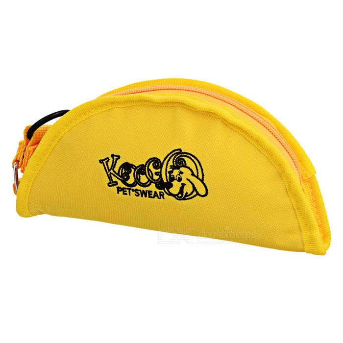 Portable Foldable Leakproof Canvas Pet Bowl - Yellow