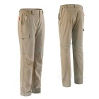 NatureHike Men's Two-Section Detachable Quick-drying Pants - Khaki(XL)