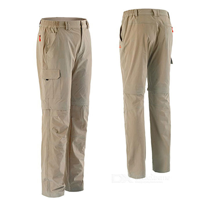 NatureHike Men's Two-Section Detachable Pants - Khaki (L)
