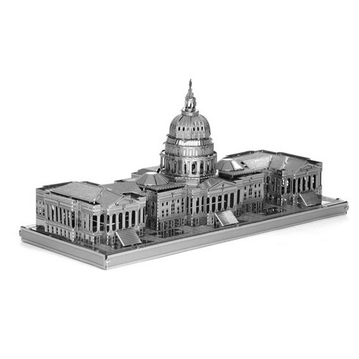 3D DIY Assembly Model of the United States Congress - SilverBlocks &amp; Jigsaw Toys<br>Form  ColorSilverMaterialMetalQuantity1 DX.PCM.Model.AttributeModel.UnitNumber36Size13.8*6*7Suitable Age 5-7 years,8-11 years,12-15 years,Grown upsPacking List36 * Puzzle blocks<br>