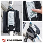 ROBESBON Bicycle Equipment Beam Saddle Bag - Black + Grey (2L)