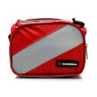 Equipamento de bicicleta ROBESBON feixe Saddle Bag - Red + Grey (2L)