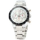 Valia 8609 Men's Japanese Quartz Watch w/4 Real Sub-dials -Ivory White