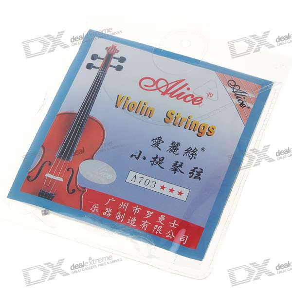 Metal Violin Strings Set (E-1/A-2/D-3/G-4) original thomastik vision solo vis100 4 4 violin strings full set med alum d made in austria free shipping