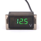 CS-177 Motorcycle / Car Waterproof Plastic Digital Voltmeter - Grey