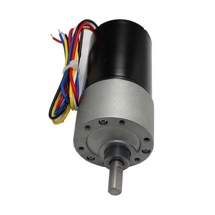 High torque dc brushless gear motor black grey free for Geared brushless dc motor