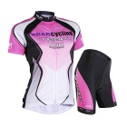 Outdoor Sports Summer Seamless Super Thin Breathable Polyester Wearing Suit - Pink (L)