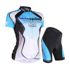 Outdoor Sports Summer Seamless Super Thin Breathable Polyester Wearing Suit - Blue (M)