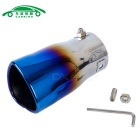 Car Stainless Steel Heart Design Rolled Exhaust Muffler Tip Pipe