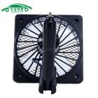 Mini Car Truck Vehicle Cooling Air Fan Car Suction Cup Fan - Black