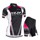 Outdoor Sports Summer Seamless Super Thin Breathable Polyester Wearing Suit - Black + Deep Pink (XL)