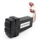For Mitsubishi Dual USB Car Charger for Mobile Phone / GPS - Black