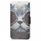 SZKINSTON Sunglass Cat PU Leather Case for Samsung Galaxy Note 5