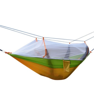 2-Person Mosquito Repelling Hammock - Yellow + Green