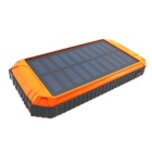 "SUNGZU ""10000mAh"" Dual USB Solar Power Battery Bank - Black + Orange"
