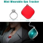 DMDG Wearable Mini Precision GPS Locator Tracker - красный + серебристый серый
