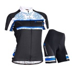 NUCKILY Women's Summer Cycling Jerseys Suit - Blue (XL)