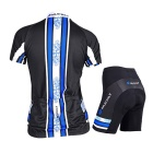 NUCKILY Women's Summer Cycling Jerseys Suit - Blue (XXL)