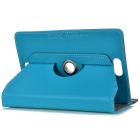 "360' Rotating Four Angle Fixed Case for 7"" Tablets - Light Bue"