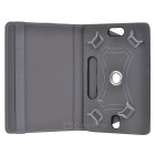 "Universal 360' Rotating Four Angle Fixed Case for 7"" Tablets - Black"