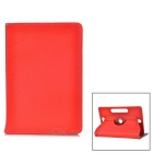 """Universal 360' Rotating Four Angle Fixed Case for 7"""" Tablets - Red"""
