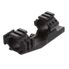 L011 25.4mm Ring Diameter Fishbone Style Gun Mount - Black