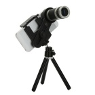 Telescopio Universale 8x Telescopio Mobile con Supporto - Nero