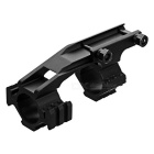 L012 30mm Diametro Fishbone Style Gun Mount - Nero